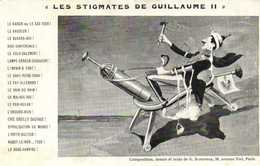 """Militaria Satirique """"LES STIGMATES DE GUILLAUME II"""" RV - Patriotiques"""