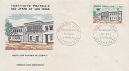 Enveloppe  FDC  1er  Jour  TERRITOIRE  FRANCAIS   Des   AFARS  Et  ISSAS    Hotel  Des   Postes   1970 - Afars Et Issas (1967-1977)