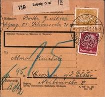 ! 1934 Paketkarte Deutsches Reich, Leipzig - Alemania