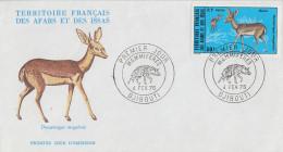 Enveloppe  FDC  1er  Jour  TERRITOIRE  FRANCAIS   Des   AFARS  Et  ISSAS     ANIMAUX   1976 - Afars Et Issas (1967-1977)