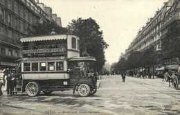 PARIS Boulevard Saint Germain Autobus à 2 Etages Avenue De Clichu Odeon Gros Plan RV - Transport Urbain En Surface