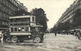 PARIS Boulevard Saint Germain Autobus à 2 Etages Avenue De Clichu Odeon Gros Plan RV - Openbaar Vervoer