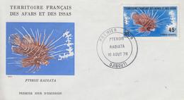Enveloppe  FDC  1er  Jour  TERRITOIRE  FRANCAIS   Des   AFARS  Et  ISSAS   Poisson   1976 - Afars Et Issas (1967-1977)