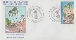 Enveloppe  FDC  1er  Jour  TERRITOIRE  FRANCAIS   Des   AFARS  Et  ISSAS    Palmier  1975 - Afars Et Issas (1967-1977)