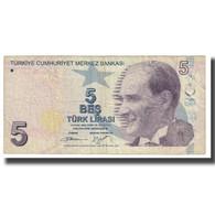 Billet, Turquie, 5 Lira, 1970, 1970-10-14, KM:222, TB - Turkije