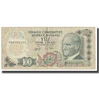 Billet, Turquie, 100 Lira, 1970, 1970-10-14, KM:189a, TB - Turkije