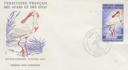 Enveloppe  FDC  1er  Jour  TERRITOIRE  FRANCAIS   Des   AFARS  Et  ISSAS     Oiseau  :  Spatule  D' Afrique   1976 - Afars Et Issas (1967-1977)