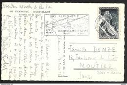 Carte Avec Oblitération Chamonix Mont Blanc Sur N°1079-Pour La Suisse - Postmark Collection (Covers)