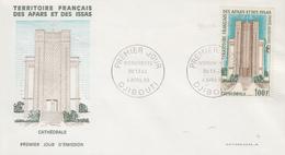 Enveloppe  FDC  1er  Jour  TERRITOIRE  FRANCAIS   Des   AFARS  Et  ISSAS   Cathédrale  De  DJIBOUTI   1969 - Afars Et Issas (1967-1977)
