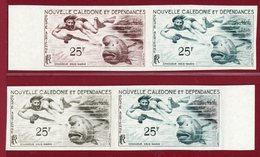 New Caledonia 1962 #C31, Color Proof X4, Skin Diver, Bumphead Surgeon Fish - Neukaledonien