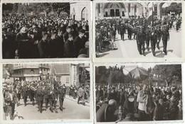 Rare 4 Photos  Départ En Groupe D'Aviateurs Et Clergé  à Lourdes  En 1937 - Autres