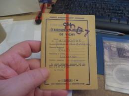 Carnet De VICHY ,avec Invitation Au CASINO  ,vendu Comme C'est - Historische Documenten