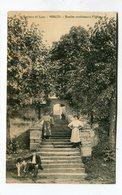 CPA  02 : VESLUD  Escalier De L'église Animé   VOIR   DESCRIPTIF  §§§ - Sonstige Gemeinden