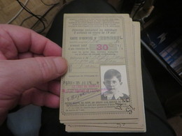 5 Cartes De FAMILLES NOMBREUSES De Réduction,chemin De Fer,vendu Comme C'est - Documents Historiques