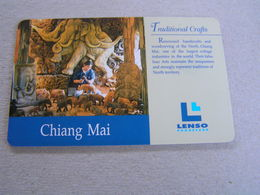 Thailand ,Lenso Used Chipcard  # 086 Traditional Crafts - Thaïland