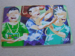 Thailand ,Lenso Used Chipcard  # 0157 Song Kran - Thaïland