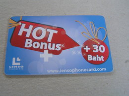 Thailand ,Lenso Used Chipcard  # 259  HOT BONUS ,blue - Tailandia