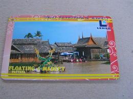 Thailand ,Lenso Used Chipcard  # 263 Pattaya Floating Market - Tailandia