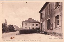 L'HERMITAGE-LA MAIRIE ET L'ARRIVEE DE LA GARE - France