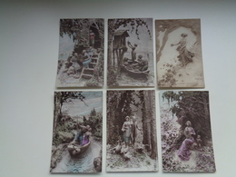 Beau Lot De 10 Cartes Postales De Fantaisie Illustrateur  Mastroianni    Mooi Lot Van 10 Postkaarten Van Fantasie - Postkaarten