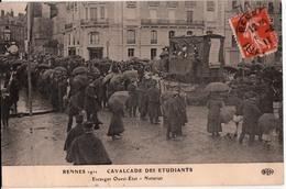 RENNES--1911 CAVALCADE DES ETUDIANTS-ESCARGOTOUEST.ETAT-NOTARIAT - Rennes