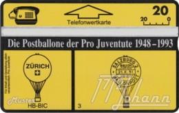 """TWK Österreich Privat: """"Postballone Pro Juventute 03"""" Gebr. - Autriche"""