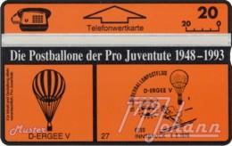 """TWK Österreich Privat: """"Postballone Pro Juventute 27"""" Gebr. - Oesterreich"""