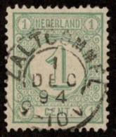 "NTH SC #35 U 1894 Numeral OfValue W/SON ""ZALTBOMMEL/1 DEC 94/9-10V"" CV $0.25 - Period 1891-1948 (Wilhelmina)"
