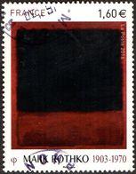 Oblitération Cachet à Date Sur Timbre De France N° 5030 Peinture De Mark Rothko 1903-1970 «Black, Red Over Black On Red» - Frankreich