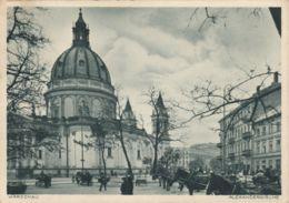 AK - WARSCHAU - Pferdefuhrwerke Bei Der Alexanderkirche 1941 - Polen