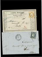 FRANCIA ,una Carta Postale +una Lettera ,qualita Ottima - Poststempel (Briefe)