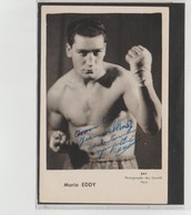 .BOXING.BOKSEN. PHOTO. Jac  BOXEUR MARIO EDDY   SIGNEE. AUTOGRAPHE - Boxing