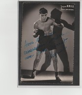 .BOXING.BOKSEN. PHOTO. .  BOXEUR JACQUES KRILL   TEAM BRETONNEL  SIGNEE. AUTOGRAPHE - Boxing