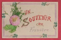 Franière - Un Souvenir ... Jolie Carte Fantaisie Décorée D'un Découpi - 1907 ( Voir Verso ) - Floreffe