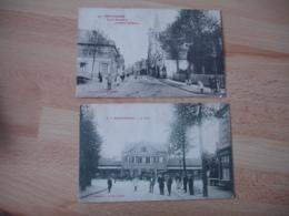 Lot 2 Cpa  Montdidier Gare Et Rue Parmentier - Montdidier