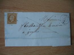 Genlis Cote D Or Lot 4 Lettre Petit Chiffre 1383 Et Cachet Type 15 Et 16 - Poststempel (Briefe)