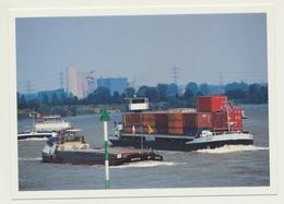 AK  Container Schiff Kernkraftwerk AKW Duisburg Ruhrort - Schiffe
