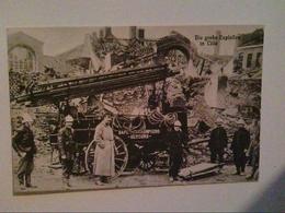Lille, Frankreich. 1916. Die Große Explosion. Feuerwehrmänner. AK. - Militaria