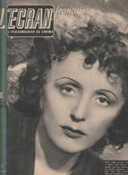 Rare Ancien Magazine L'écran Français Edith Piaf En Première Page  N°41 Du 10 Avril 1946 - Magazines