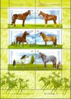 ARGENTINA 2000 HORSES SHEET OF 6** (MNH) - Argentine
