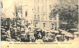 ATH  Cortège Des Fêtes Communales-char Des Neuf Provinces. - Ath