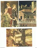 SIENA:  AMBROGIO  LORENZETTI  -  AFFRESCHI  -  S. CPL. 6  CARTOLINE  IN  CONFEZIONE  ORIGINALE  -  FG - Musei