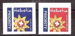Suisse - 2002 - N° 1743 Et 1744 - Neufs ** - Salutations De Suisse - Priority - Cards Europe / Worldwide- Auto-adhésifs - Suisse