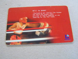 Thailand ,Lenso Used Chipcard  # 055   Boxing - Thaïland