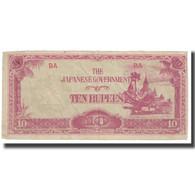 Billet, Birmanie, 10 Rupees, KM:16a, TTB - Sri Lanka