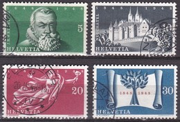 Switzerland / Schweiz / Suisse : 1948 100 JahreSchweizer Bundesstaat Gestempelter Satz Michel 496 / 499 - Suisse