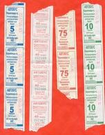 Kazakhstan 2019. City Karaganda. Lot Of  12  Tickets On Bus. - Monde