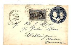 USG116 / USA - Columbus Stationery (Ganzsache) Mit 10 C-Marke 1895 Nach Villingen/Deutschland - 1847-99 Emissions Générales