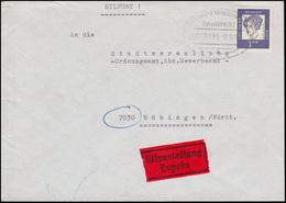 Bahnpost STUTTGART-FRANKFURT/MAIN ZUG 35 - 17.5.65 Auf Eil-Brief Nach Böblingen - Briefmarken