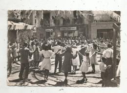 Cp, ANDORRE ,ANDORRA , LES ESCALDES , Dansant La Sardana ,voyagée ,ed. Pantebre , Danse  ,folklore,commerce - Andorre